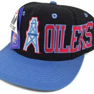 Vintage Houston Oilers APEX ONE Snapback Cap Hat